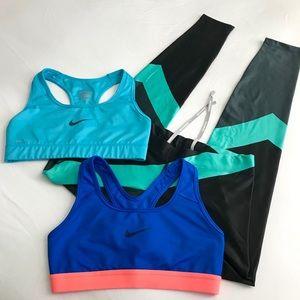 BUNDLE Nike Leggings Nike Sports Bra Size XS